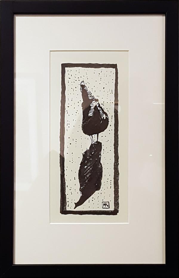 2977 - Strolling Hen by Michael Kluckner