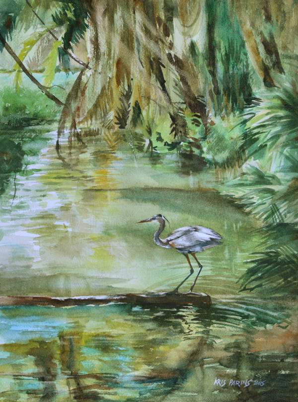 Far Harbor Heron by Kris Parins