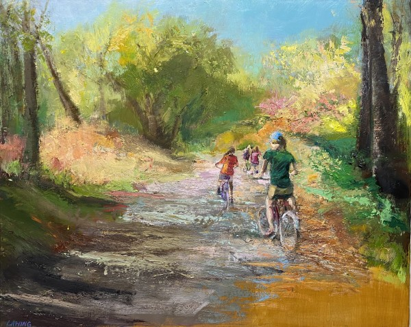 Autumn Bike Ride II by Julia Chandler Lawing