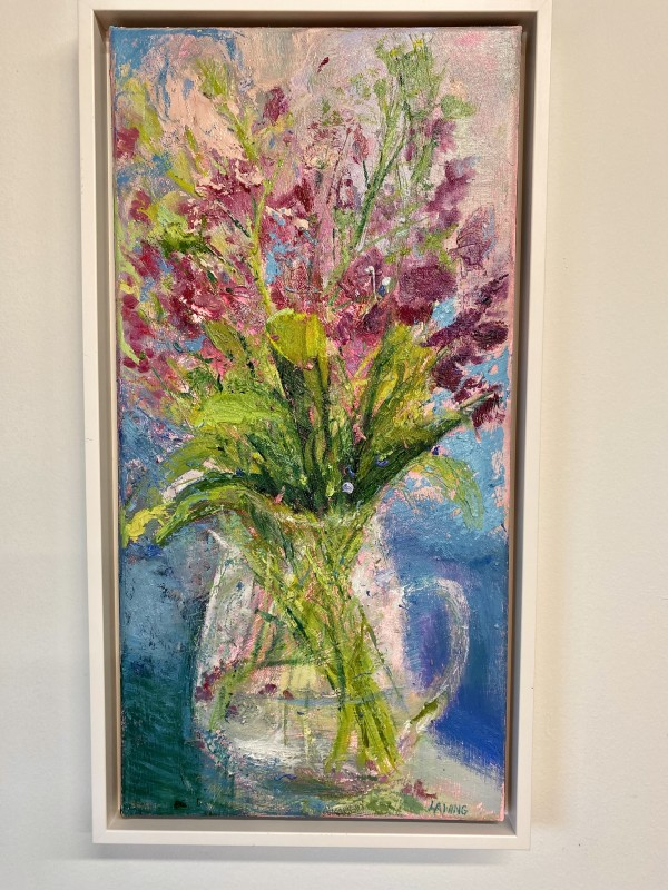Pitcher Of Sweet Peas by Julia Chandler Lawing
