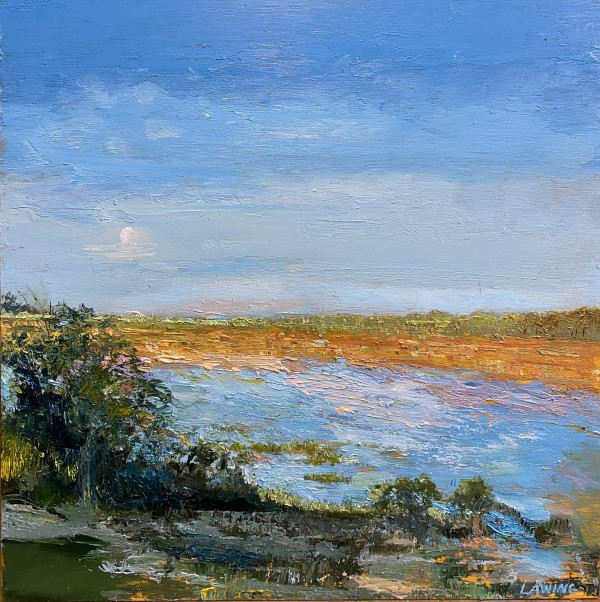 Morning Moon Over Winter Marsh by Julia Chandler Lawing