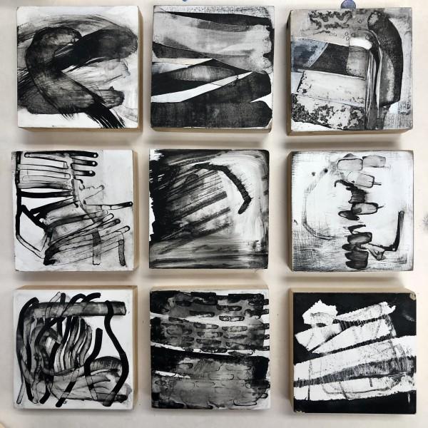 "Untitled grouping of 3""x3"" by Laura Viola Preciado"