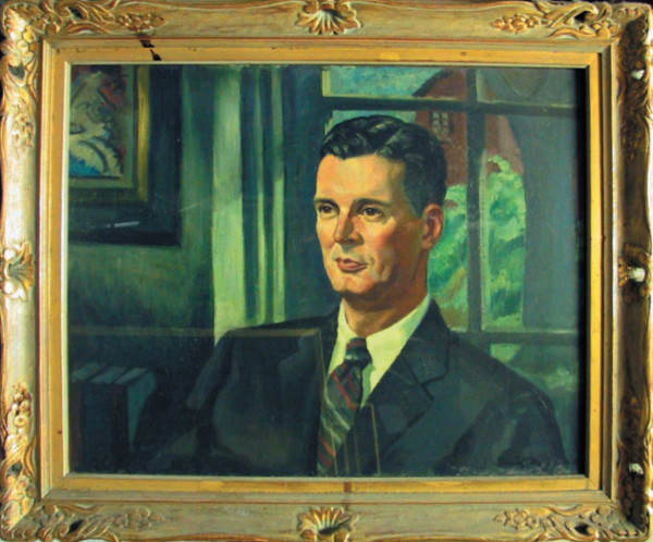 Portrait of  Dr. Cornog by Illegible