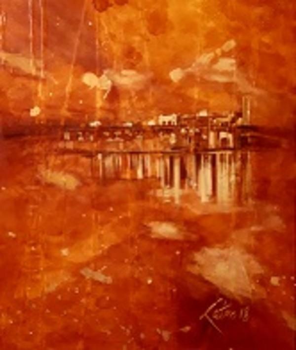 a) Gold Rain - Burrard Bridge, BC., Canada by Kathleen Katon Tonnesen
