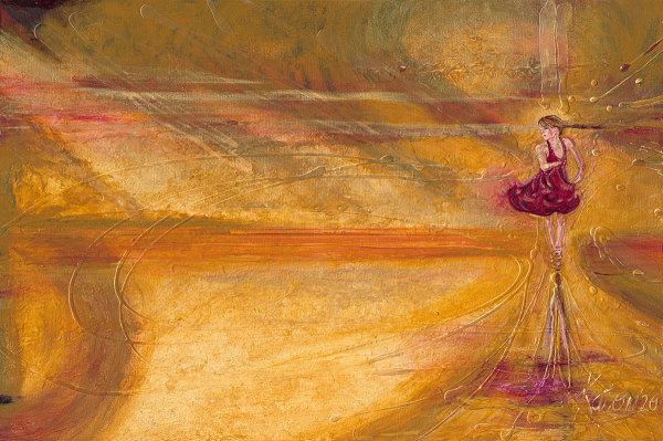 A3) Girl in a Twirl by Kathleen Katon Tonnesen