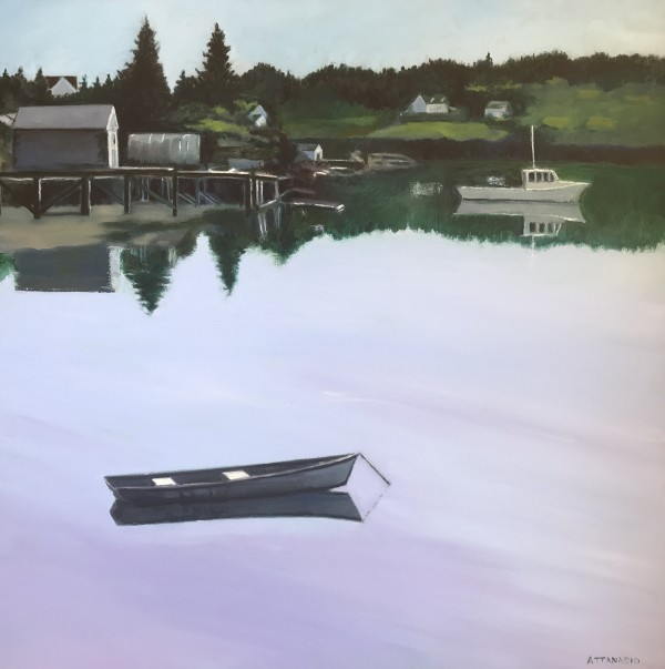 Dory in Corea Harbor by John Attanasio
