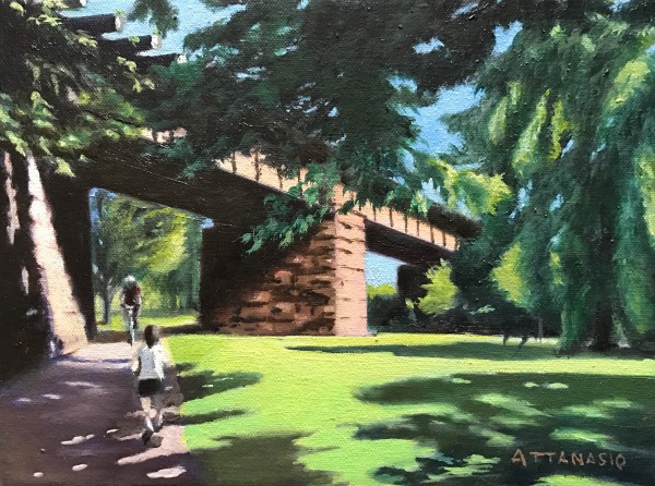 Training in the Park by John Attanasio