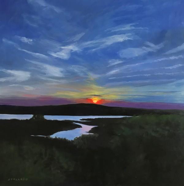 Sunset on Dyer Bay by John Attanasio
