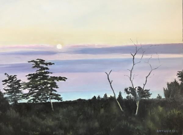 Moonrise at Sunset by John Attanasio