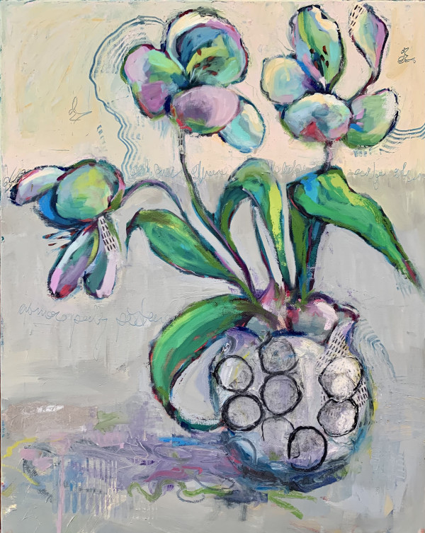 Green Orchid by Sally Hootnick