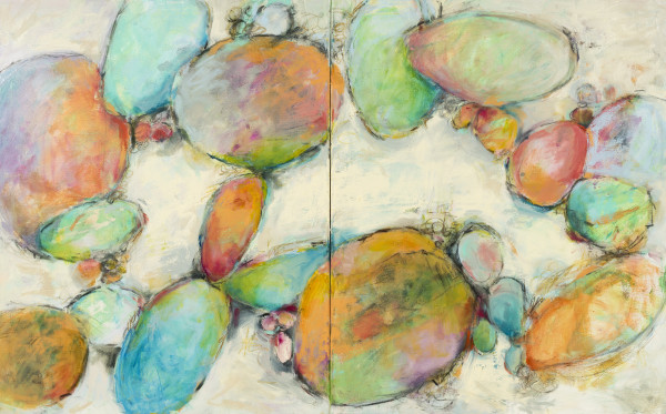 River Rocks Diptych by Sally Hootnick