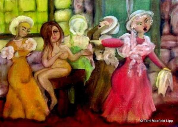 """""""Studio per Il Processo Di Artemesia"""" (Study for The Trial of Artemesia) by Terri Maxfield Lipp"""
