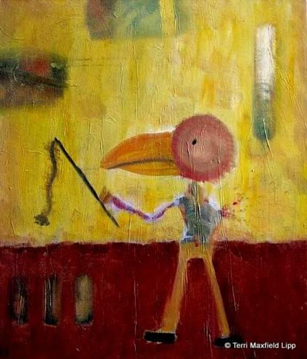 Uomo Con Testa Di Ucello (Birdhead Man) by Terri Maxfield Lipp