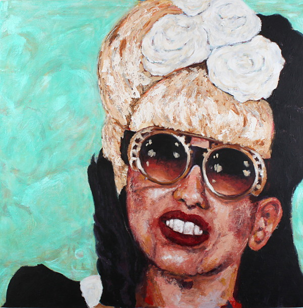 Chewing On Pearls (Homage To Lady Gaga) by Terri Maxfield Lipp