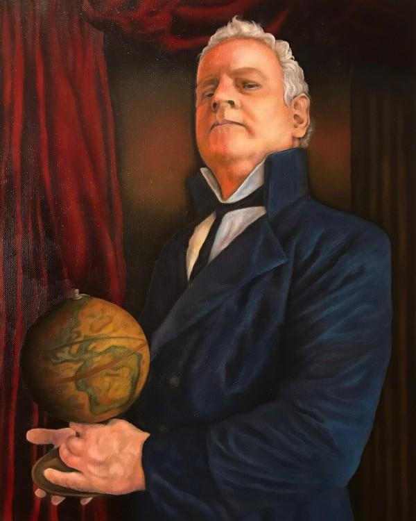 A Man And His Globe by Terri Maxfield Lipp