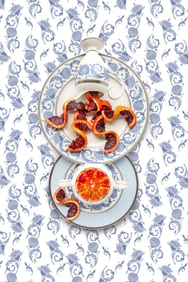 Noritake Sonnet in Blue with Blood Orange by JP Terlizzi