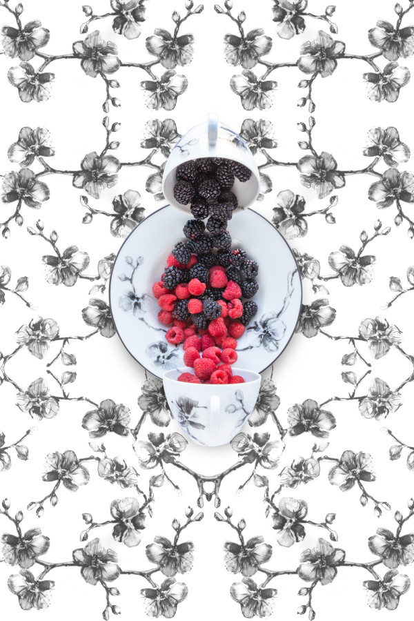 Aram Black Orchid with Berries by JP Terlizzi