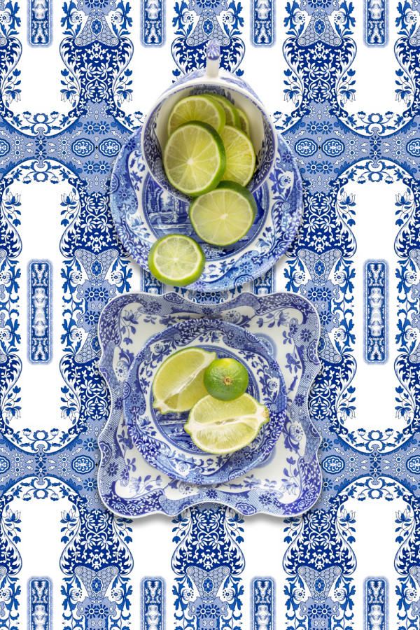 Spode Blue Italian with Lime by JP Terlizzi
