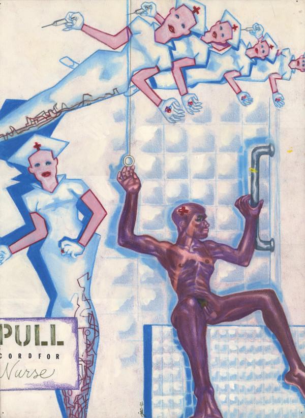Heiroglyphics #7 Pull cord for Nurse (MCV Hospital) by J. Alan Cumbey