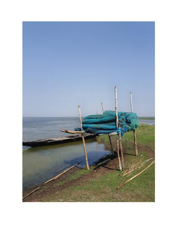 Chillika Lake Fishing Nets by Ellen Howell