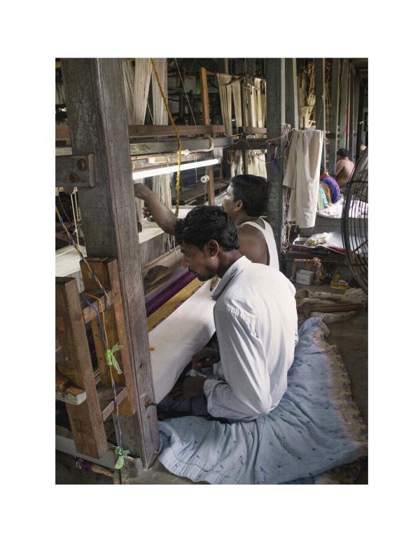 Sitting in the Weaving Pit by Ellen Howell
