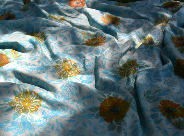 Prakash's Garden in Blue I by Ellen Howell