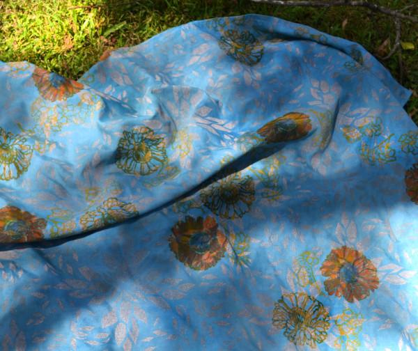 Prakash's Garden in Blue II by Ellen Howell