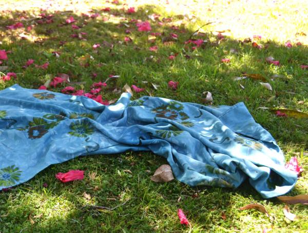 Prakash's Garden in Blue III by Ellen Howell