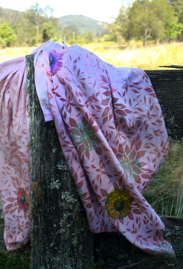 Prakash's Garden in Pink II by Ellen Howell
