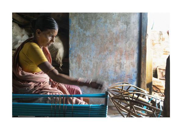 Winding Sari Silk I by Ellen Howell