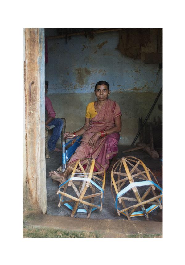 Winding Sari Silk II by Ellen Howell