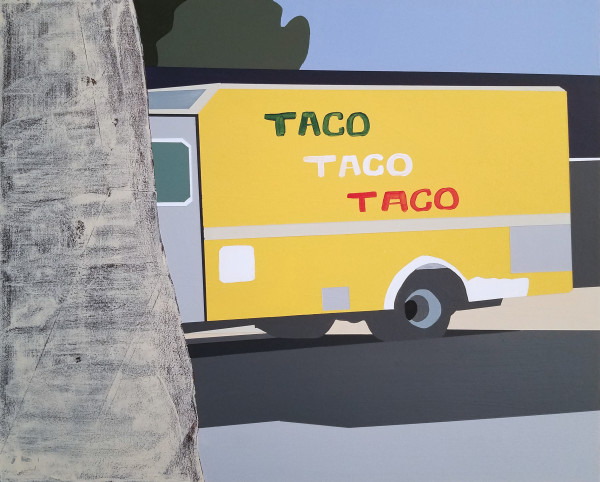 Spying on the Taco Truck by Liz Mares