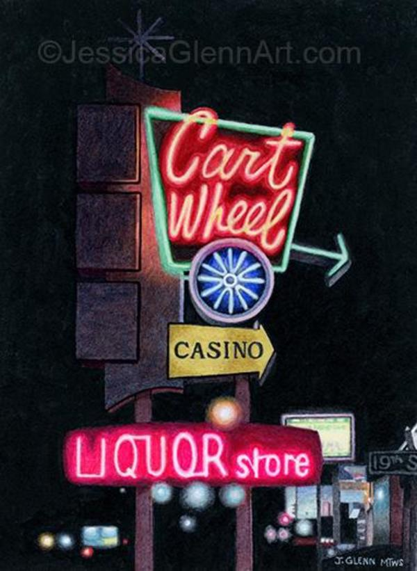 Cart Wheel by Jessica Glenn