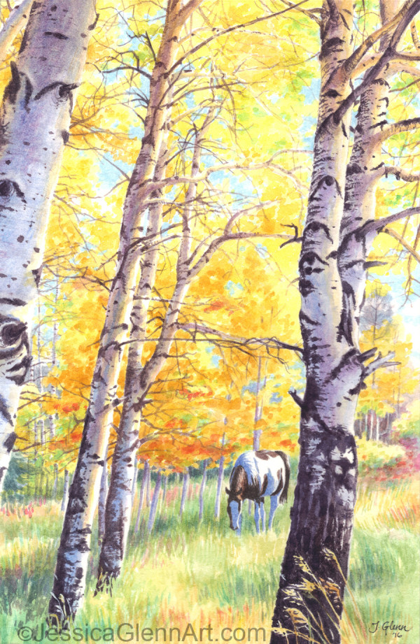 Alice Creek Aspen by Jessica Glenn