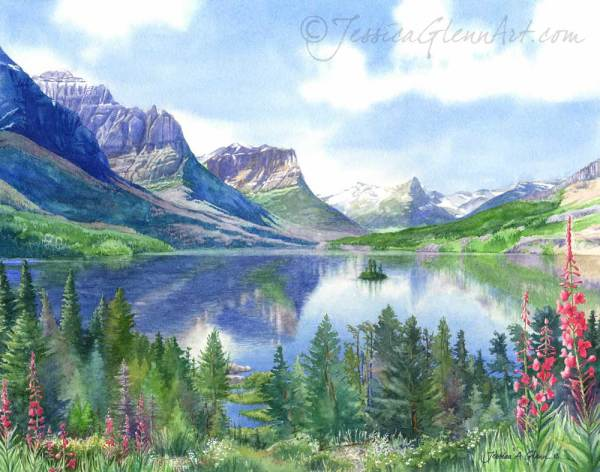 St. Mary Lake, Glacier National Park by Jessica Glenn