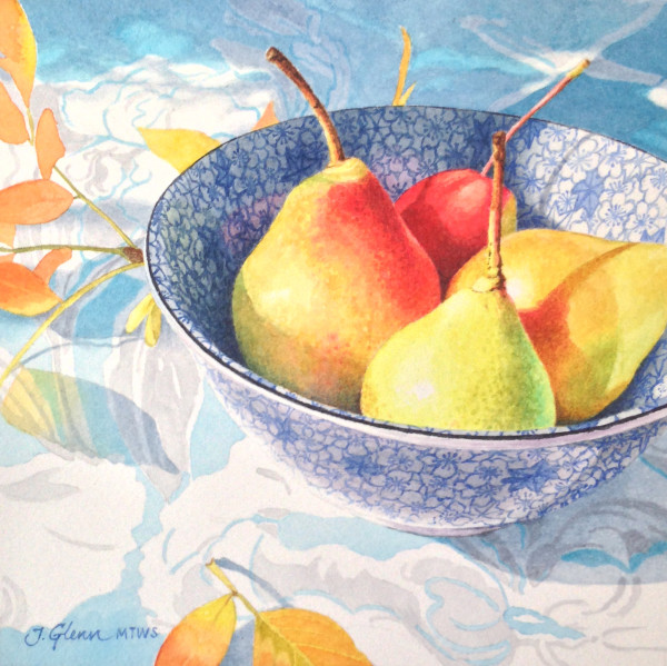 Pears in Bowl Study by Jessica Glenn