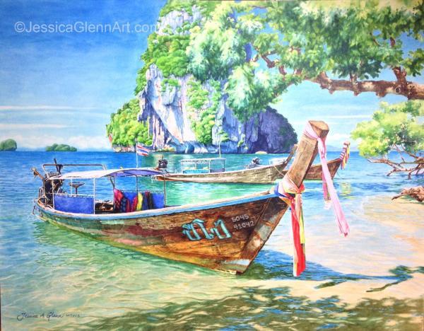 Thailand Boat by Jessica Glenn