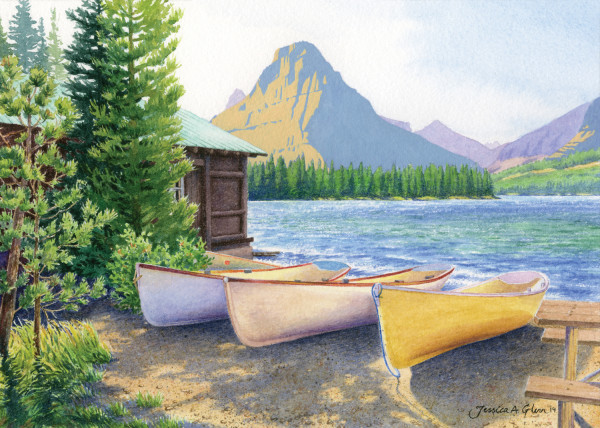 Two Medicine Boats by Jessica Glenn