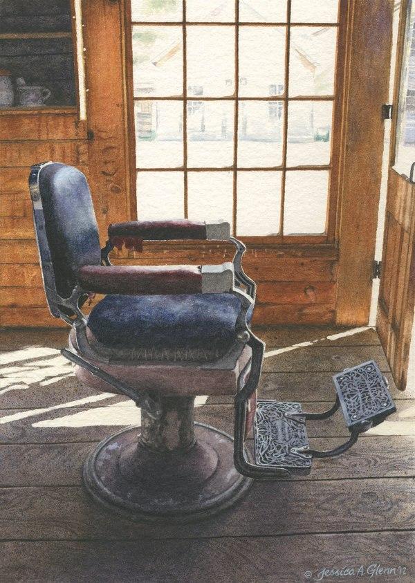Bannack Barber Chair by Jessica Glenn