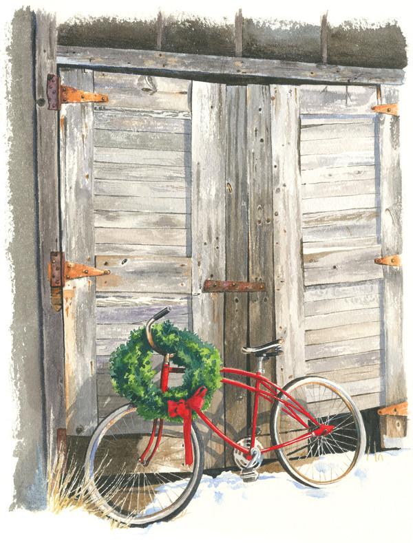 Christmas Bike by Jessica Glenn