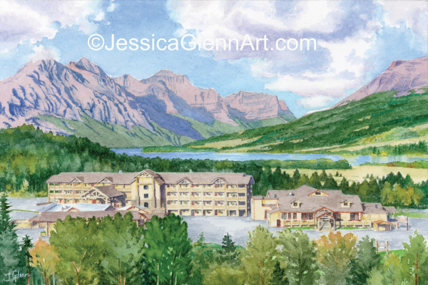 St Mary Lake Lodge (NFS) by Jessica Glenn