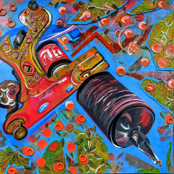 Orange Machine by Caroline Baker