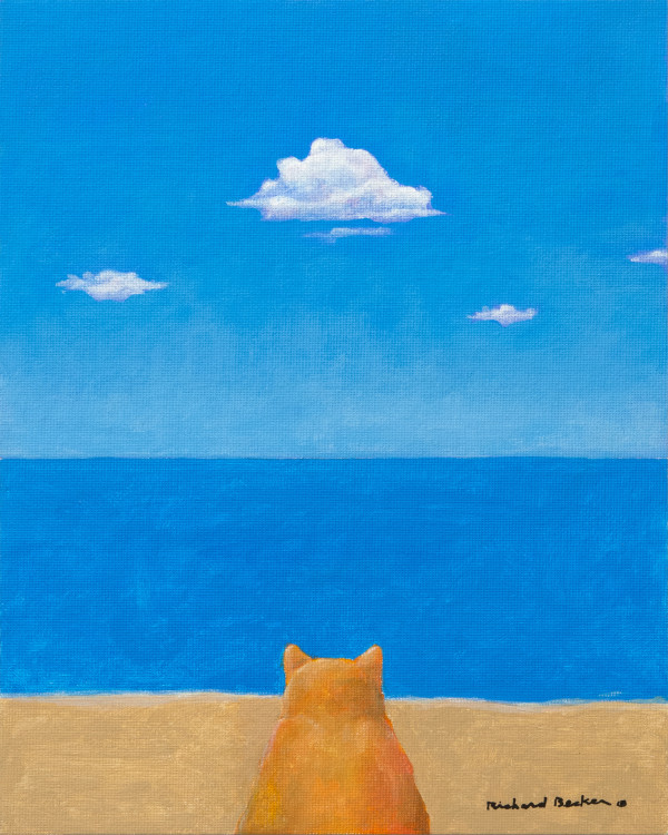 Cat Beach (when cats dream) by Richard Becker