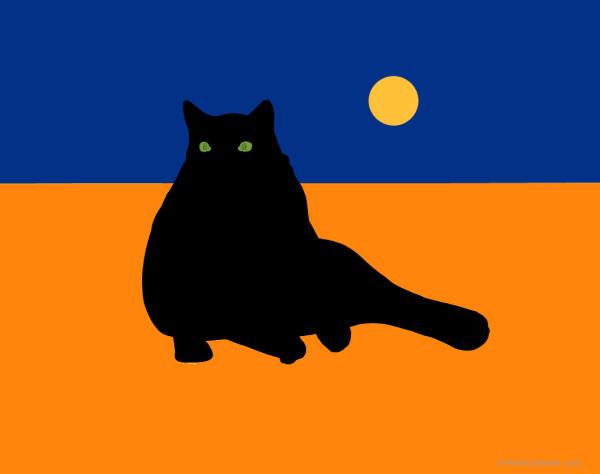 Virginia as Black Cat by Richard Becker