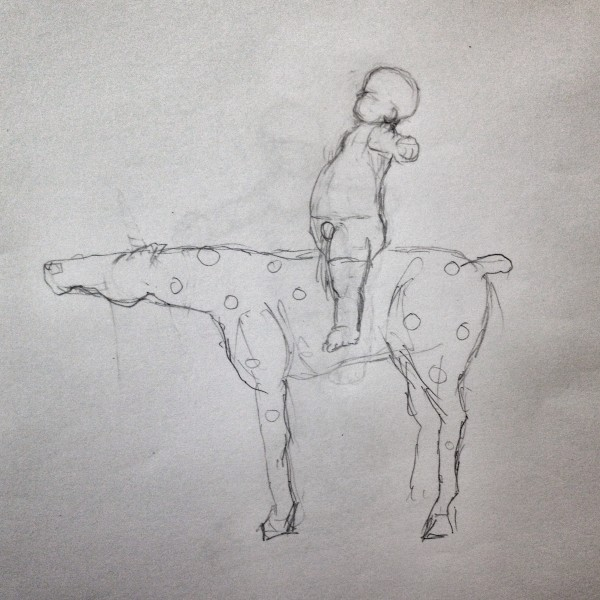 Tot with Horse by Richard Becker