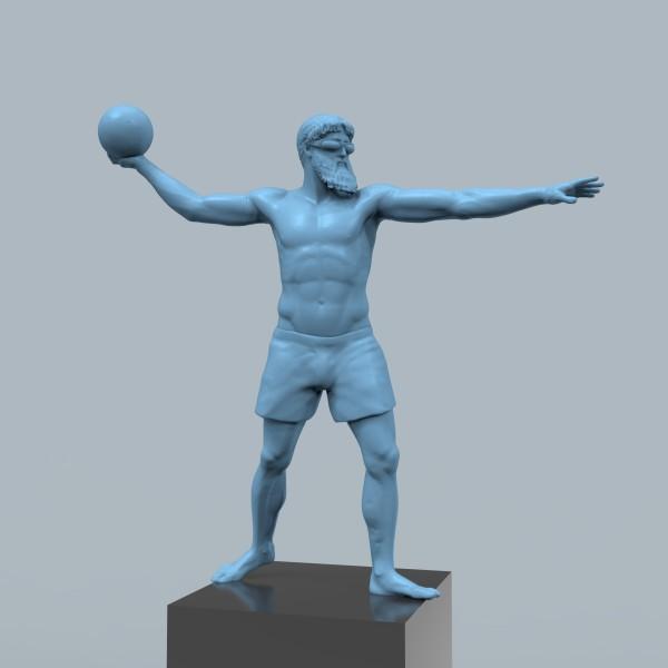 Poseidon with Ball by Richard Becker