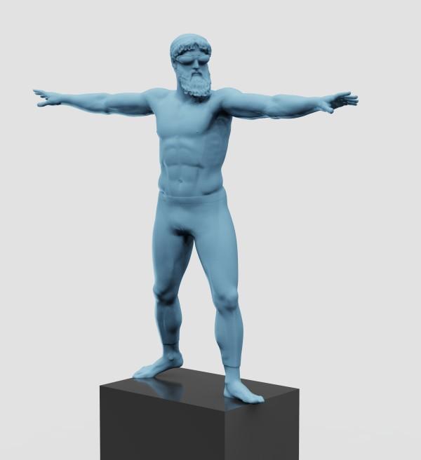 Poseidon (warrior pose) by Richard Becker