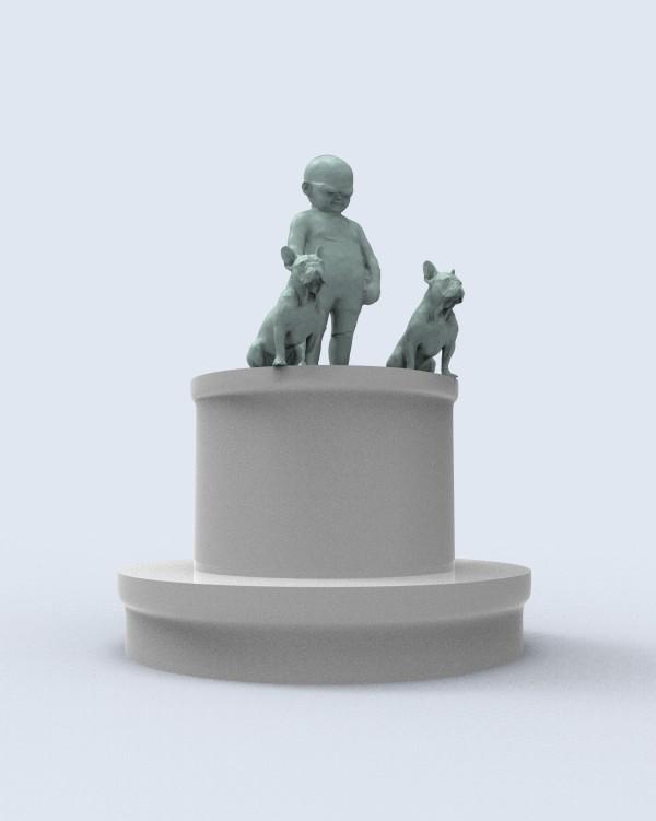 Dog Walker Tot by Richard Becker
