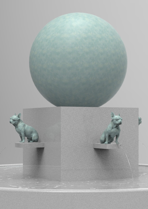 . Dog Fountain by Richard Becker
