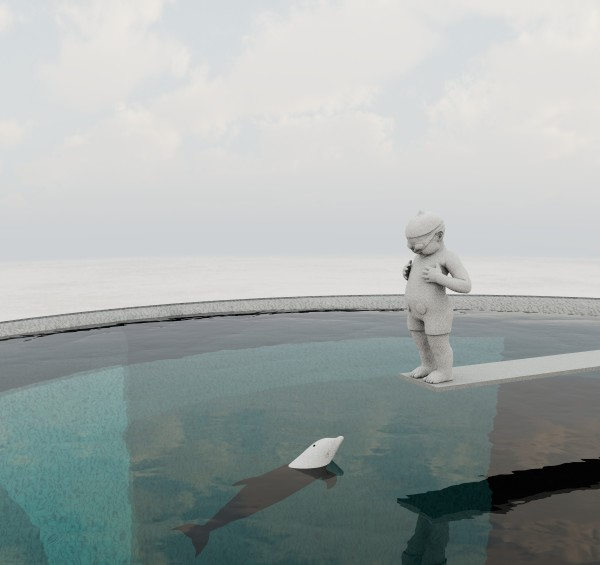 Dolphin leap by Richard Becker